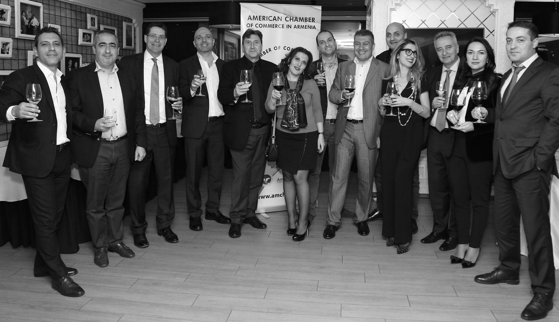 Board members (left to right): Arthur, David, Paul, Hayk, Gagik, Irina, Karen, Ara, Georgi, Diana, Ashot, Elina, Aharon